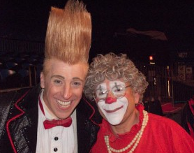Bella and Grandma the clown.