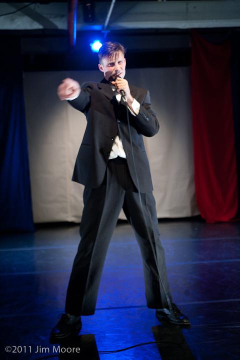 Billy Schultz performs as Billy Dee Bedlam at Triskelion