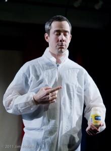 TRiskelion Arts stage hand eats Mayonnaise