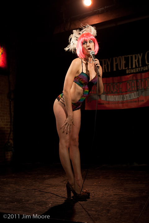 Lady Scoutington is hosting the Loose Caboose show at Bowery Poetry Club