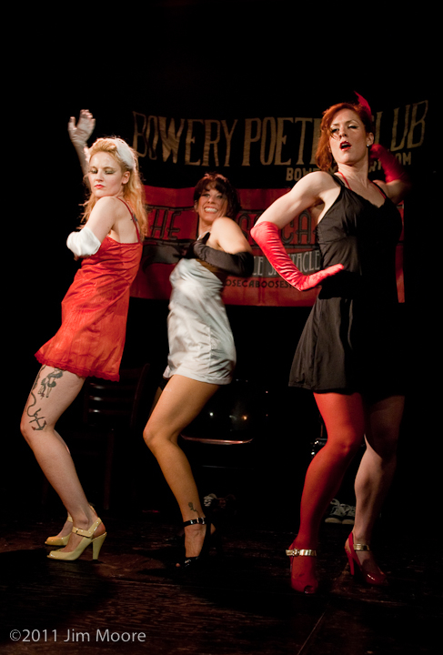 Wonderful burlesque by the Chi-Ciones at Loose Caboose