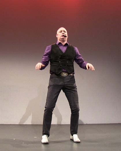 Zero Boy performs his new work at Bindlestiff Open Stage Variety
