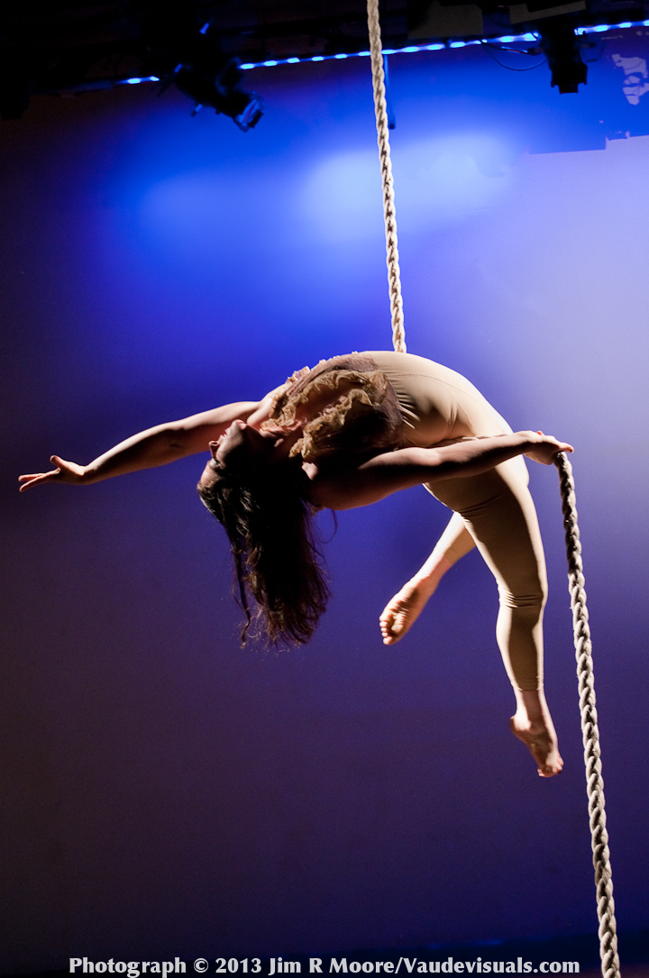 Susie Williams was the first aerialist of the night.