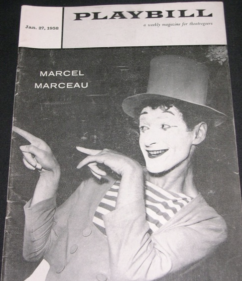 Marcel Marceau Program from 1958 at City Center, NYC