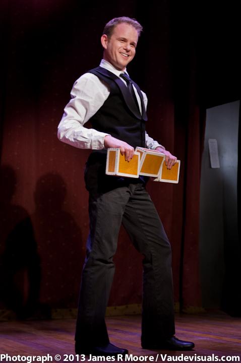 Adam Kuchler juggles the cigar boxes