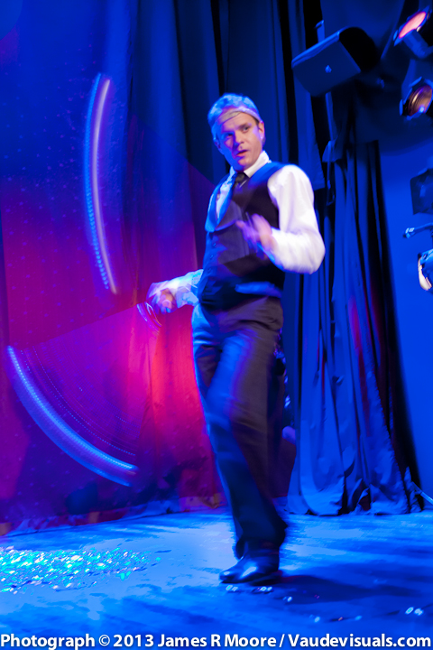 Adam Kuchler performs another funny act with balls.