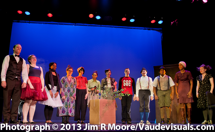 Elevator Repair Service curtain call after their play