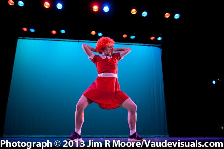 Laurie Berg dances up a storm.
