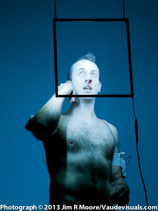 Andrew Schneider performing at Avant Garde Arama