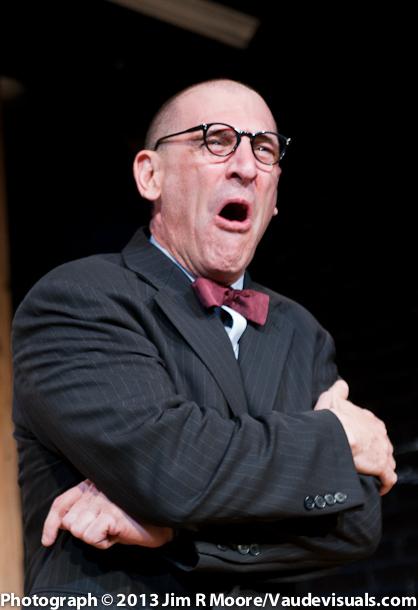 """Joel Jeske performing in his piece """"Five Doctors Reacting""""."""