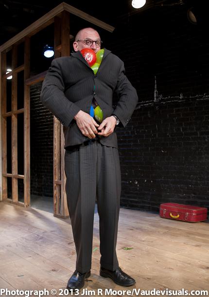 Joel Jeske performing 'My Coat is Full of Balloons'.