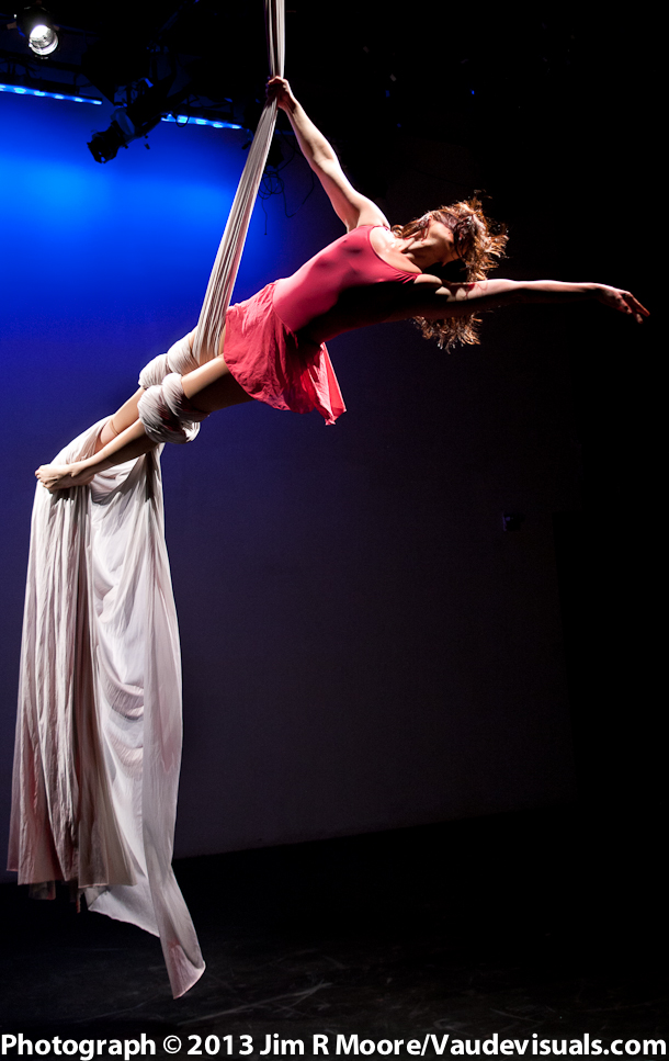 Stephanie Sine performs on the silk.