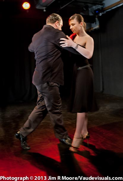 Zhanna Gomanenko and Bon Provenzano perform a tango.