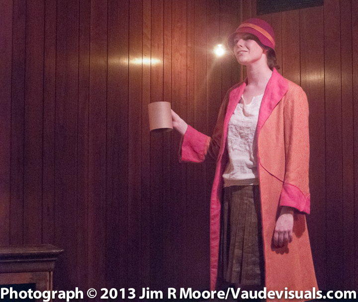 Grace Phelan as Edna St. Vincent Millay at Chumley's
