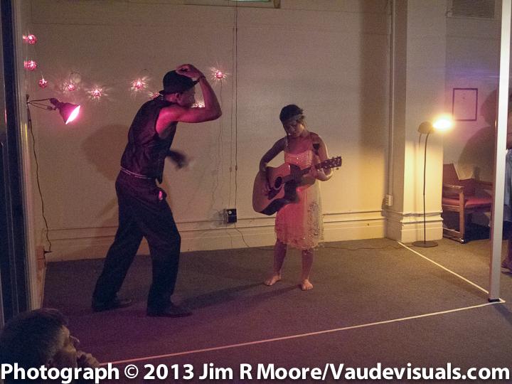 Jimmy Brooks and Jennae Alexa Ruiz Santos at a Rent Party in Harlem