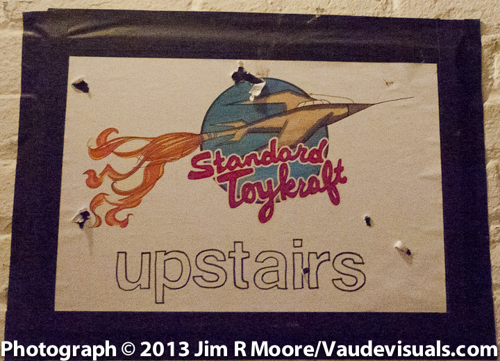 Standard ToyKraft sign in the hallway going up the stairs.