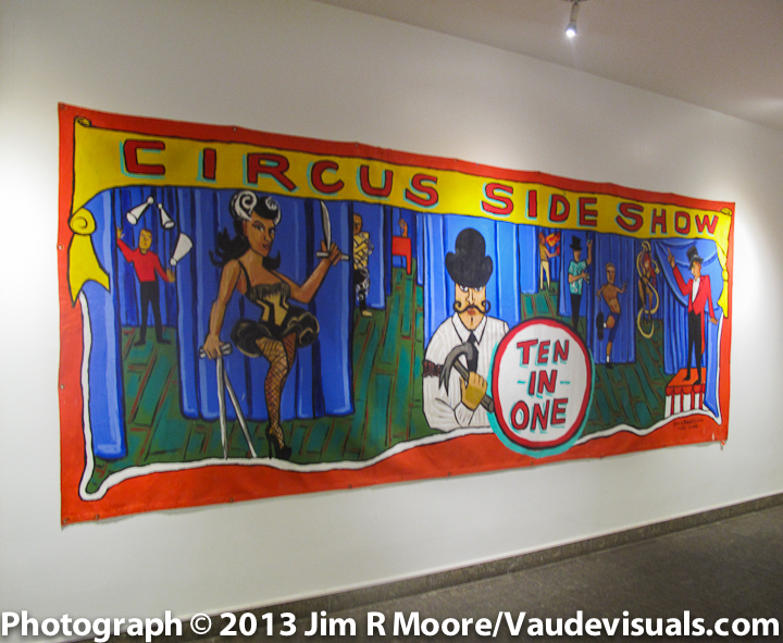 "Marie A Robert's painting. ""Circus Sideshow"""