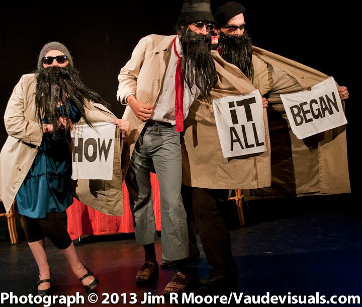 Amanda Huotari, Daniel Orrantia and Aaron Tucker in The Fabulous Problemas.