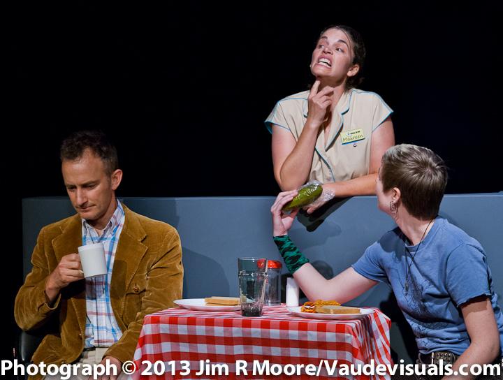 John Crutchfield, Jennifer Gatti andLisa M Smith discuss the 'size' of the pickle.