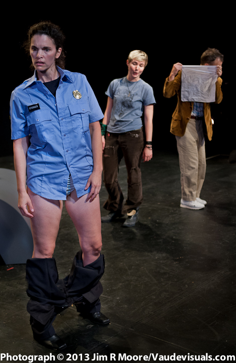 Jennifer Gatti, Lisa M Smith and John Crutchfield in a difficult moment during the play.