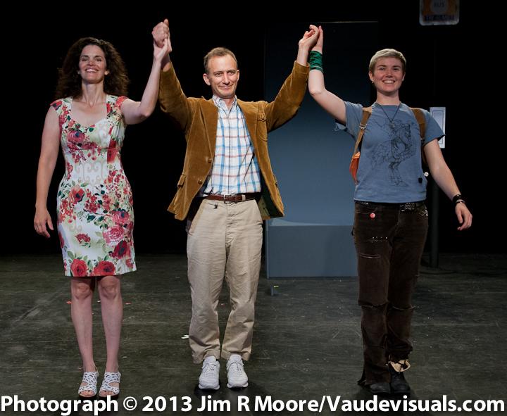 Jennifer Gatti, John Crutchfield and Lisa M Smith take their curtain call.