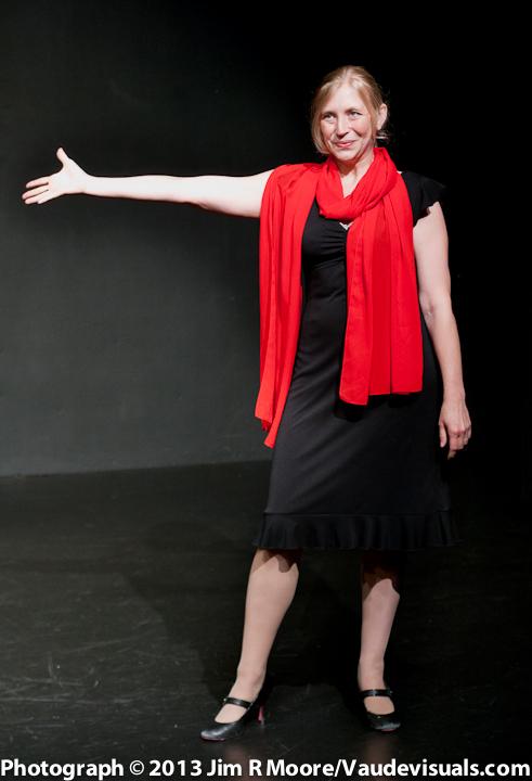 Amanda Huotari performs her 'melodrama' at Celebration Barn .