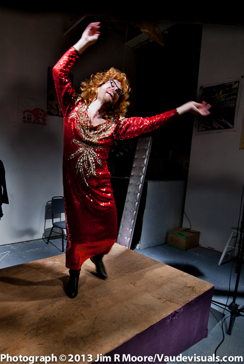 Penelope Labradoodle Rockefeller dances up a storm.