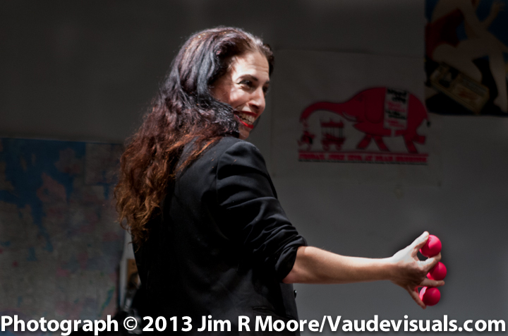 Tanya Solomon performing some 'ball' magic.