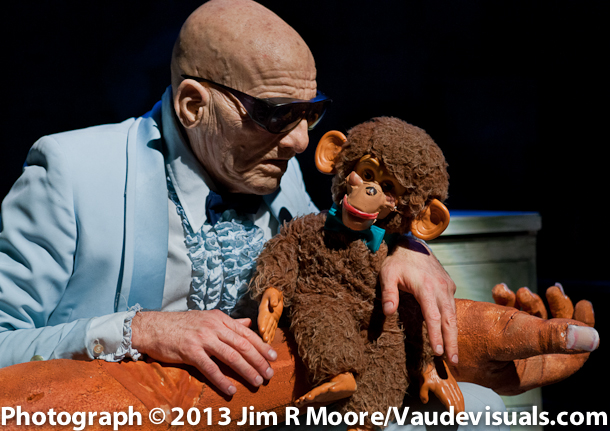 Kevin Augustine with Monkey in The God Project at LaMama etc.