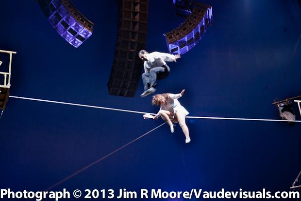Duo Guerrero performing at The Big Apple Circus
