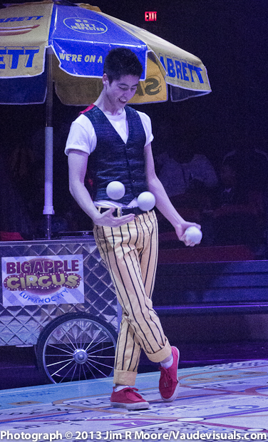 Ty Tojo performing at The Big Apple Circus