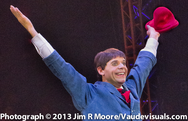 Rob Torres performing with the Big Apple Circus