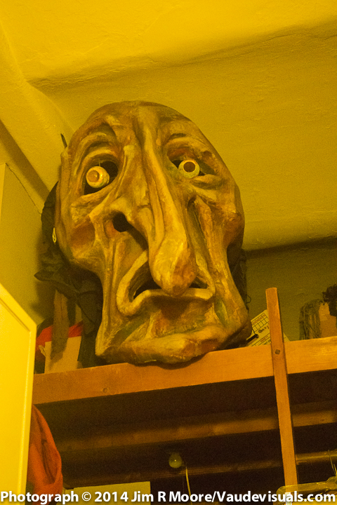 A Ralph Lee mask used in the first Greenwich Village Halloween Parade.