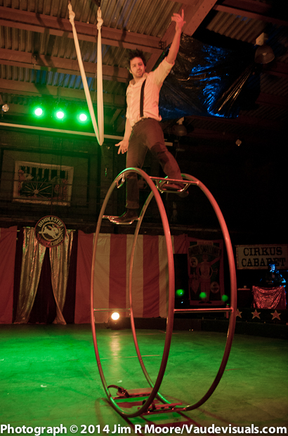 Cyr Wheel performer was amazing.