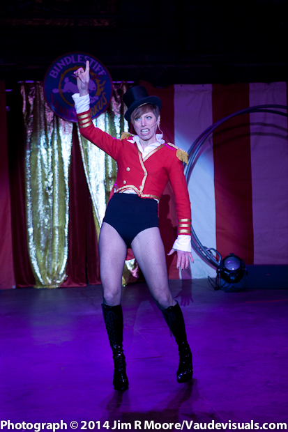 Stephanie Monseu performs as the Ring Mistress for the show.