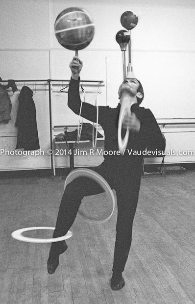 Francis Brunn practicing at Showcase Studios.