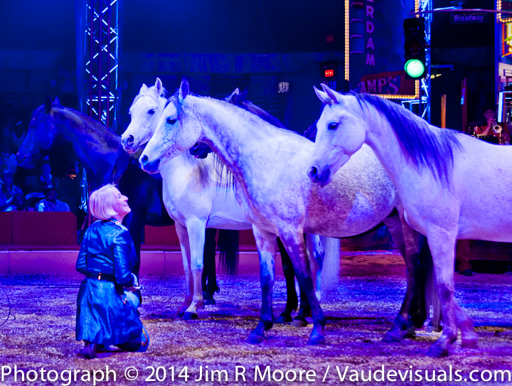 Jenny Vidbel performs with her beautiful horses.