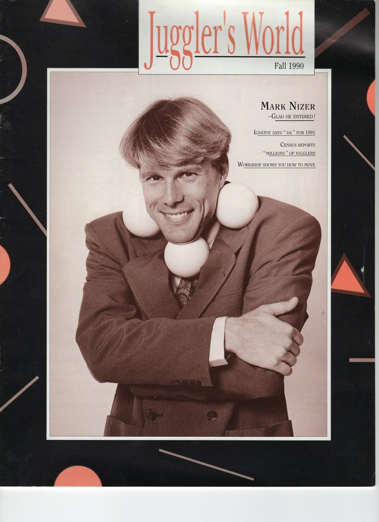 Mark Nizer on cover of Juggler's World