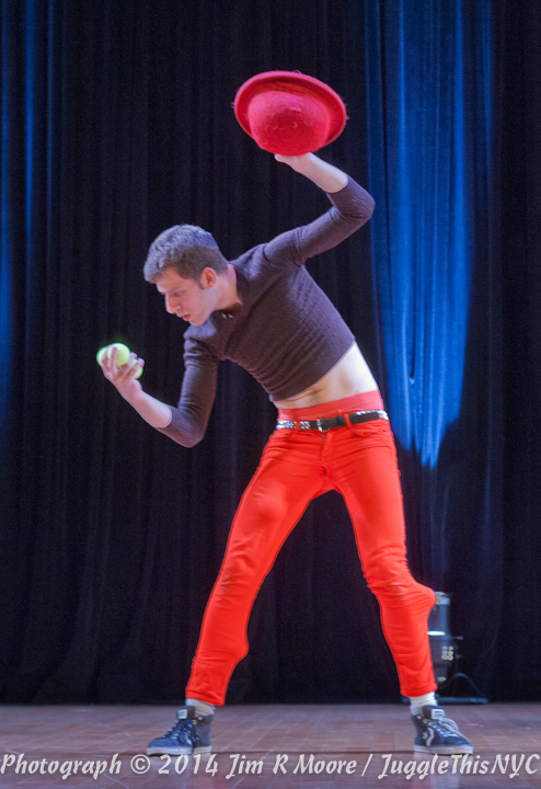 Jacob D'Eustachio performing at Juggle This.