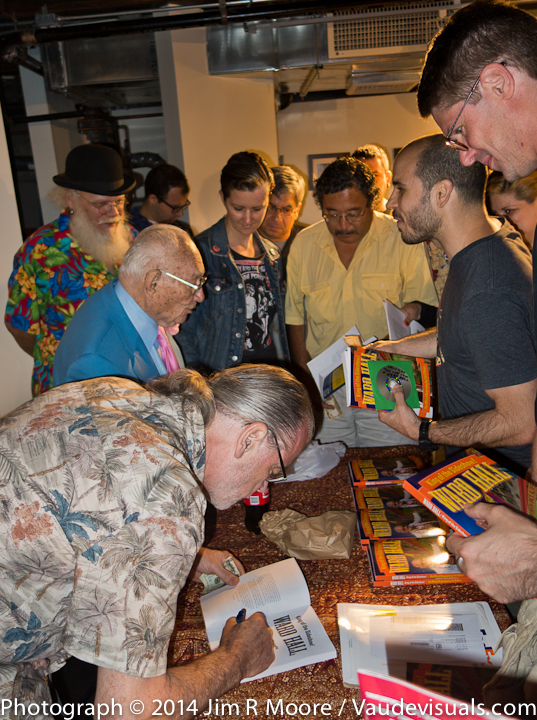 Tim O'Brien autographs the new book.