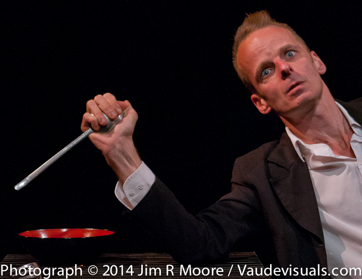 Jeroen Bouwhuis performs at the Clown Cabaret