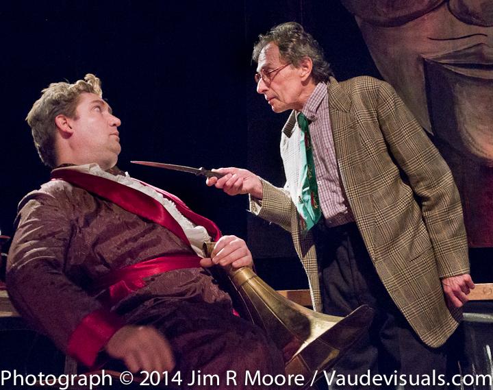 Douglas Mackrell with Scott Baker threatening him.