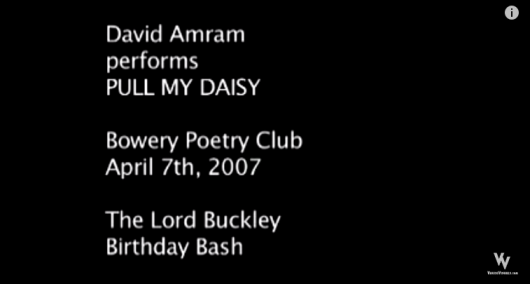 David Amram performs at The Lord Buckley Birthday Bash.