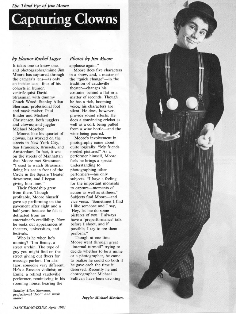 Dance Magazine April 1983