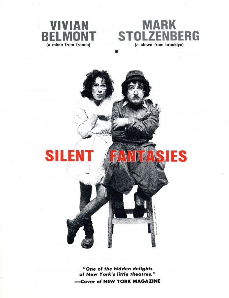 Silent Fantasies show flyer.