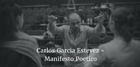 Manifesto Poetico - Carlos Garcia Estevez