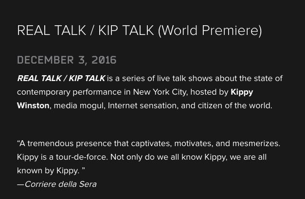 Real Talk/Kip Talk