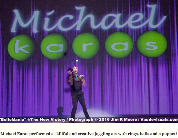 """Michael Karas performing in """"BelloMania"""""""