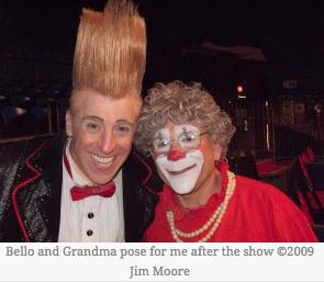 Grandma and Bello at Big Apple Circus